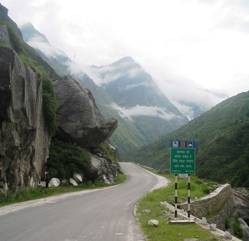 badrinath road valley of flowers