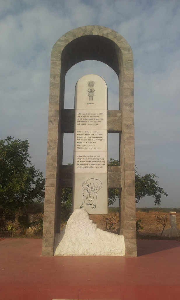 plaquewhere Mahatma produced salt, dandi, gujarat