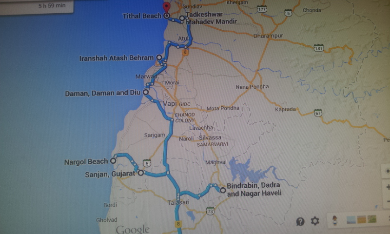 gujarat tour map