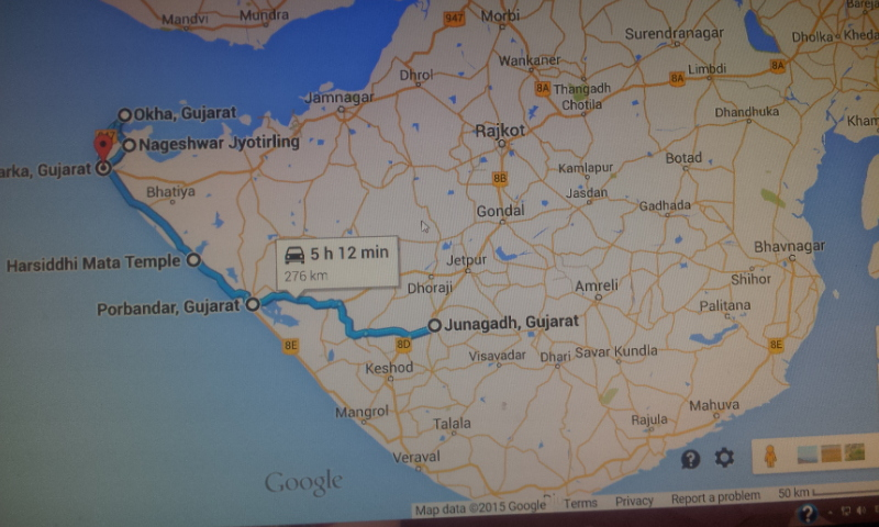 Today's route by Google Maps