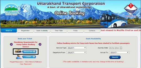 Uttarakhand transport website