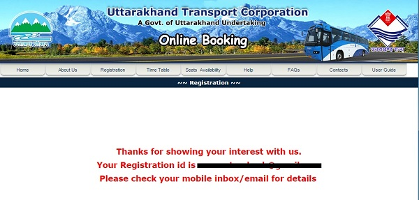 Uttrakhand Transport bus service