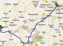 delhi balaji route map