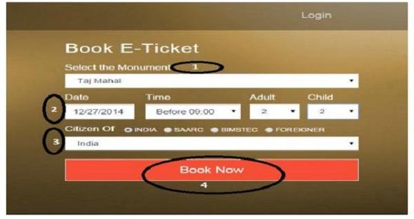 How to book Taj Mahal Tickets online?